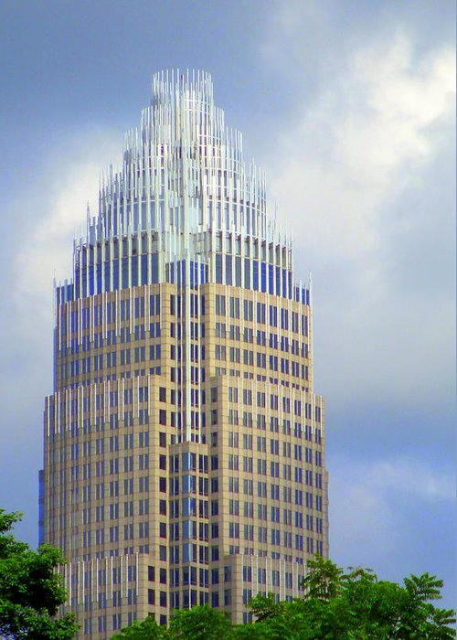 Charlotte Greeting Card featuring the photograph Uptown Charlotte 1 by Randall Weidner