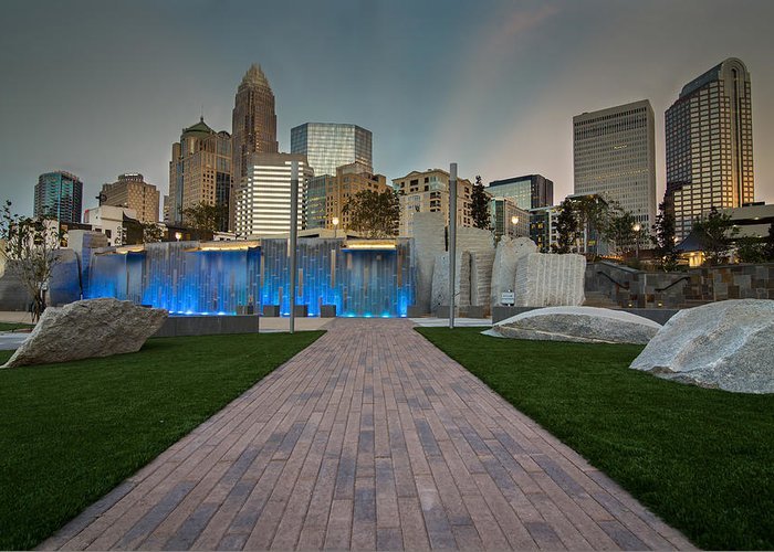 Park Greeting Card featuring the photograph Uptown Charlotte by Serge Skiba