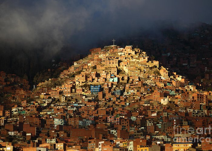 La Paz Greeting Card featuring the photograph Urban Cross 2 by James Brunker
