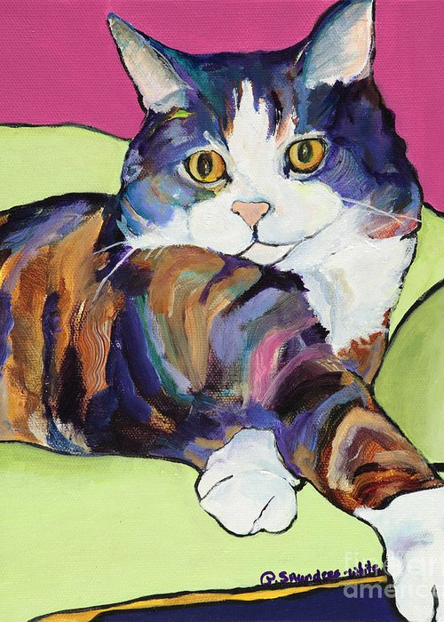 Pat Saunders-white Canvas Prints Greeting Card featuring the painting Ursula by Pat Saunders-White