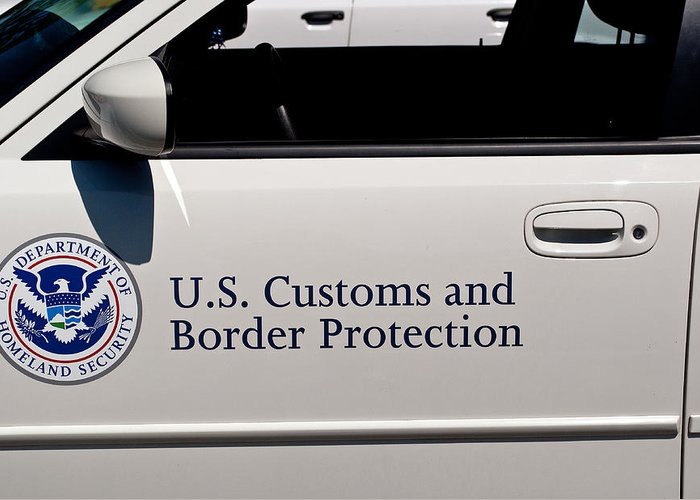 U.s. Greeting Card featuring the photograph U.s. Customs And Border Protection by Tikvah's Hope
