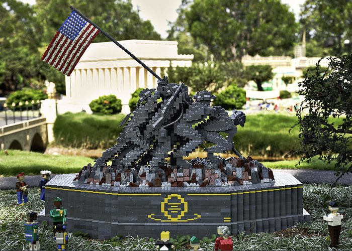 United Greeting Card featuring the photograph Us Marine Corps War Memorial by Ricky Barnard