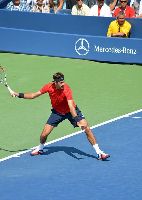 Us Greeting Card featuring the photograph Us Open Juan Martin Del Potro by Maria isabel Villamonte