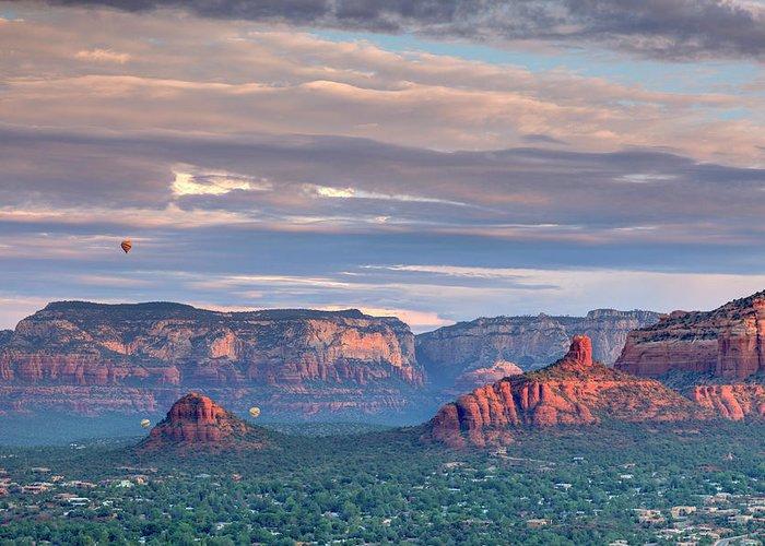 Scenics Greeting Card featuring the photograph Usa, Arizona, Sedona by Michele Falzone