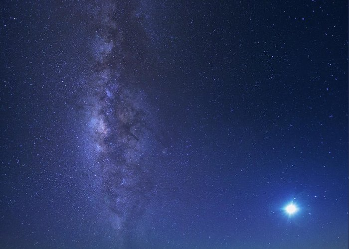 Tranquility Greeting Card featuring the photograph Usa, Hawaii, Maui, Milky Way by Michele Falzone
