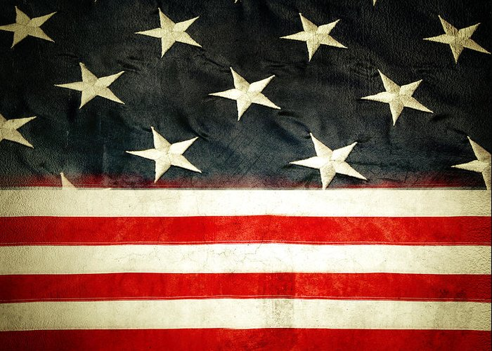 Flag Greeting Card featuring the photograph Usa Stars And Stripes by Les Cunliffe
