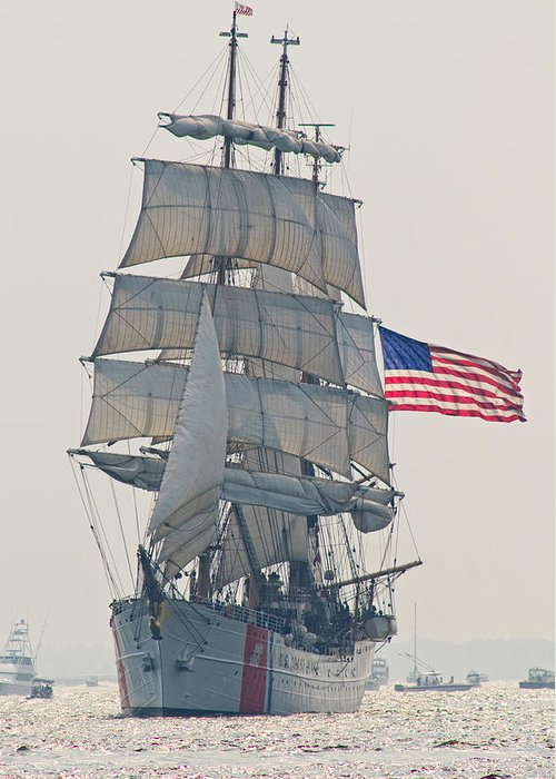 United Greeting Card featuring the photograph U.s.c.g. Cutter Eagle by Robert Donovan