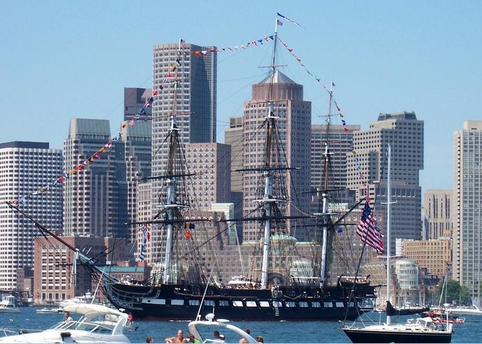 Ship Greeting Card featuring the photograph Uss Constitution by Catherine Gagne