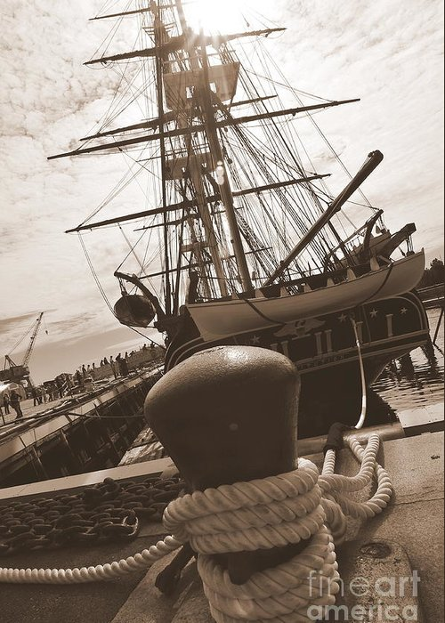 Boston Ma Greeting Card featuring the photograph Uss Constitution by Catherine Reusch Daley