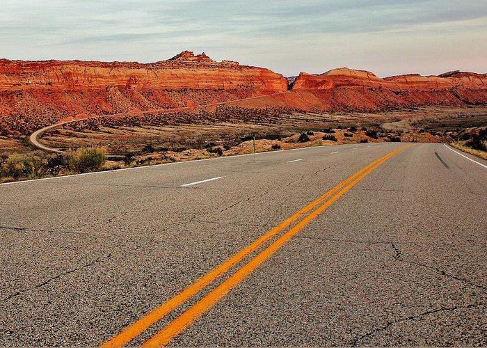 Utah Greeting Card featuring the photograph Utah Highway by Benjamin Yeager