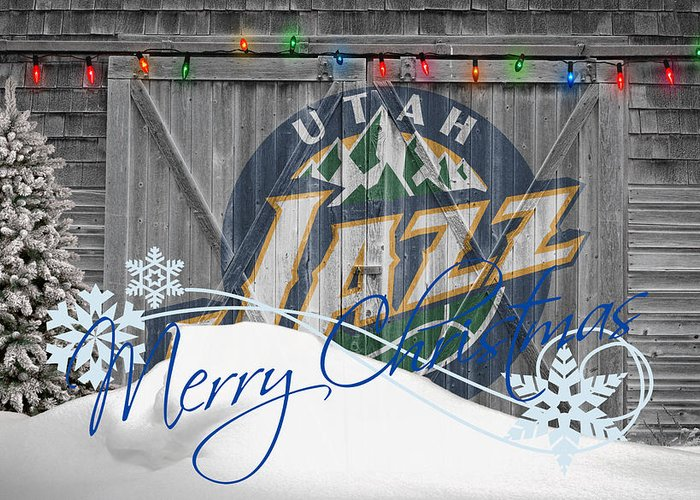 Jazz Greeting Card featuring the photograph Utah Jazz by Joe Hamilton