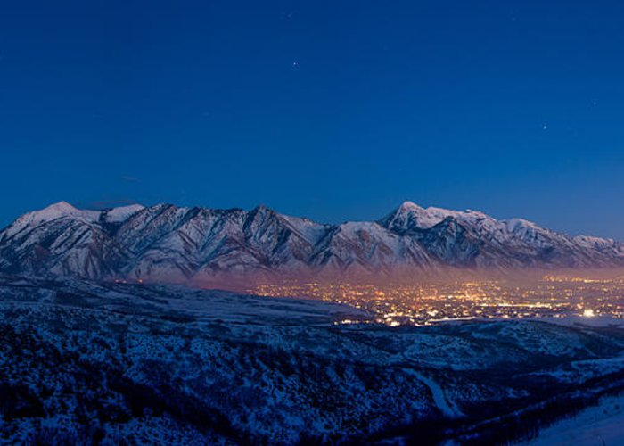 Utah Greeting Card featuring the photograph Utah Valley by Chad Dutson