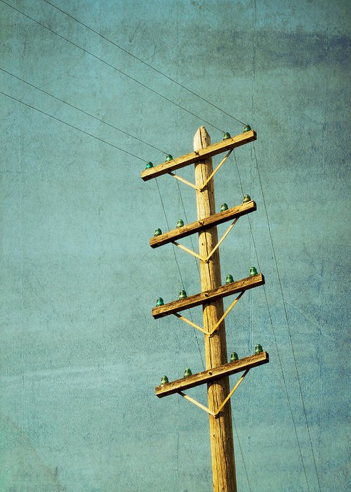 Telephone Pole Greeting Cards