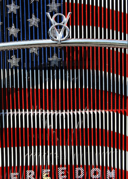 V8 Greeting Card featuring the photograph V8 Freedom by Jani Freimann