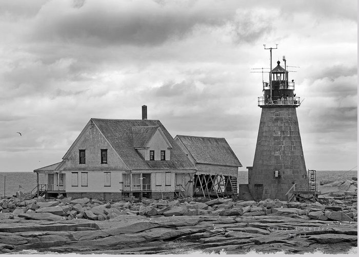 Lighthouse Greeting Card featuring the photograph Vacant On The Ocean by Betsy Knapp
