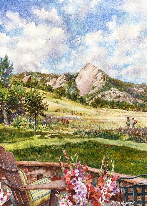 Gladiolas Paintings Greeting Cards