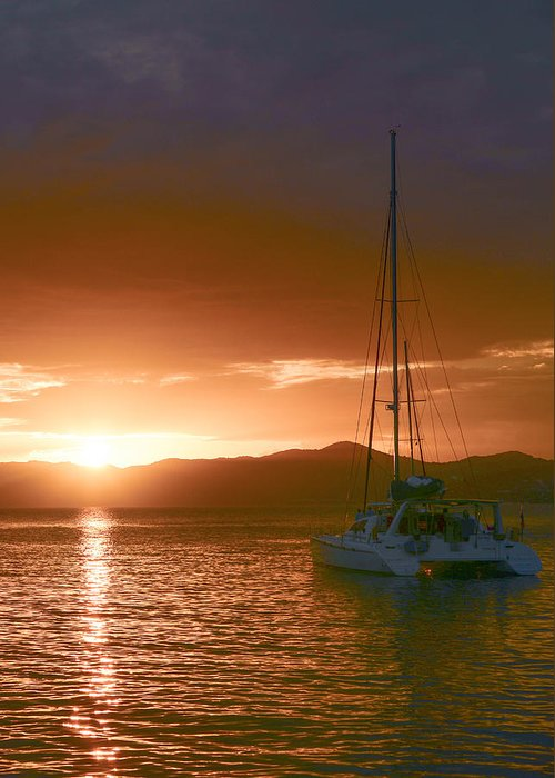 Vacation Greeting Card featuring the photograph Vacation Sunset by  Michael Glenn