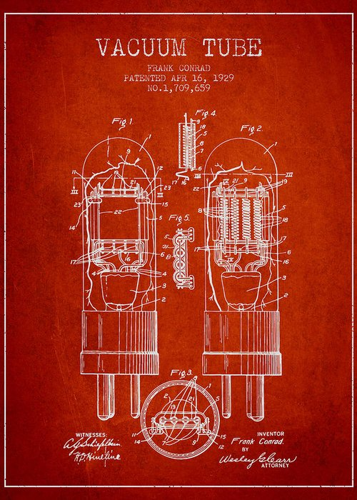 Thermionic Valve Greeting Cards