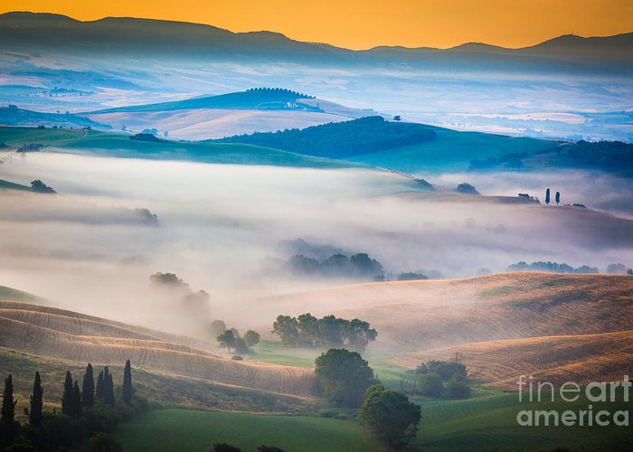 Europe Greeting Card featuring the photograph Val D'orcia Enchantment by Inge Johnsson