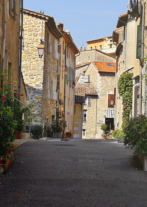 Valbonne Greeting Card featuring the photograph Valbonne - French Village Of Contradictions by Christine Till