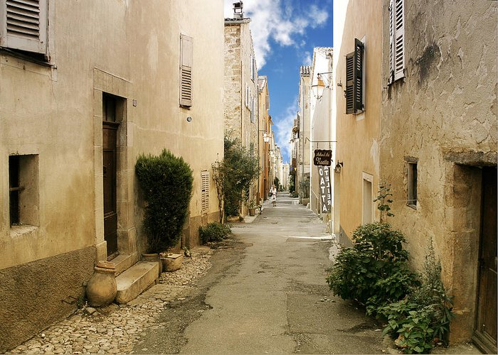 French Greeting Card featuring the photograph Valbonne - History And Charm by Christine Till