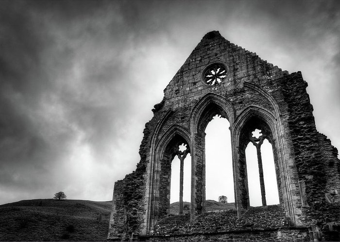 Valle Crucis Abbey Greeting Card featuring the photograph Valle Crucis Abbey by Dave Bowman