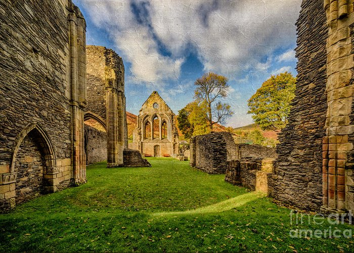 13th Century Greeting Card featuring the photograph Valle Crucis Abbey Ruins by Adrian Evans