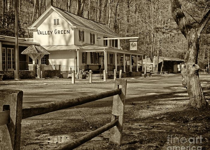 Valley Green Inn Greeting Card featuring the photograph Valley Green Inn 2 by Jack Paolini