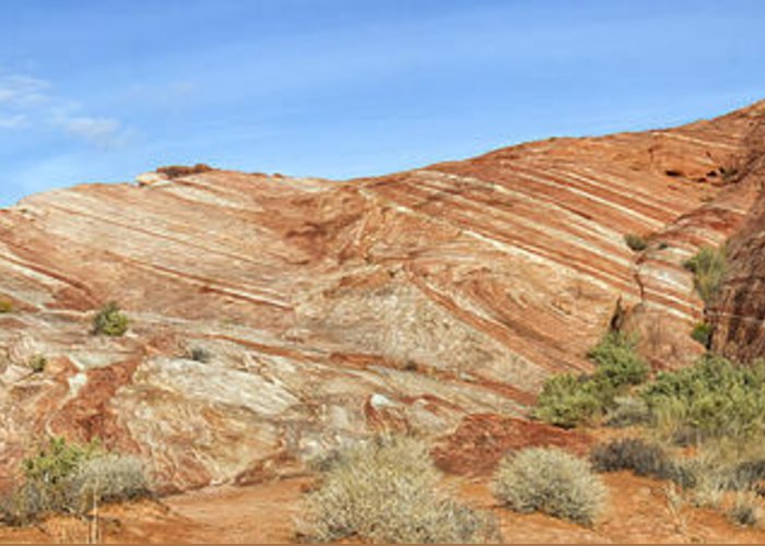 Fire Wave Greeting Card featuring the photograph Valley Of Fire - Fire Wave Panorama by Debby Richards