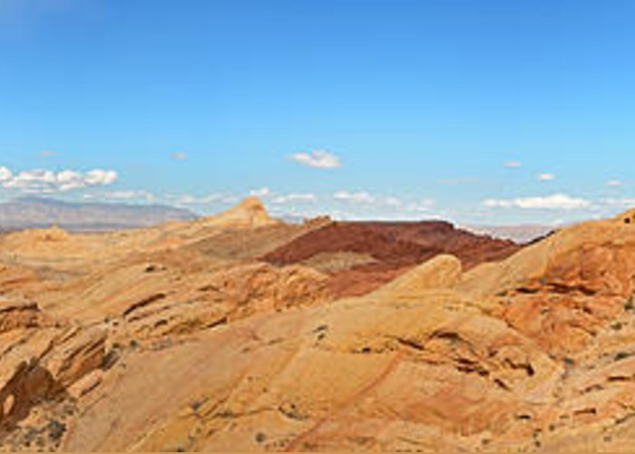 America Greeting Card featuring the photograph Valley Of Fire Pano by Jane Rix