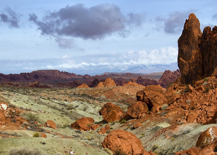 Valley Of Fire Greeting Card featuring the photograph Valley Of Fire State Park by Debby Richards