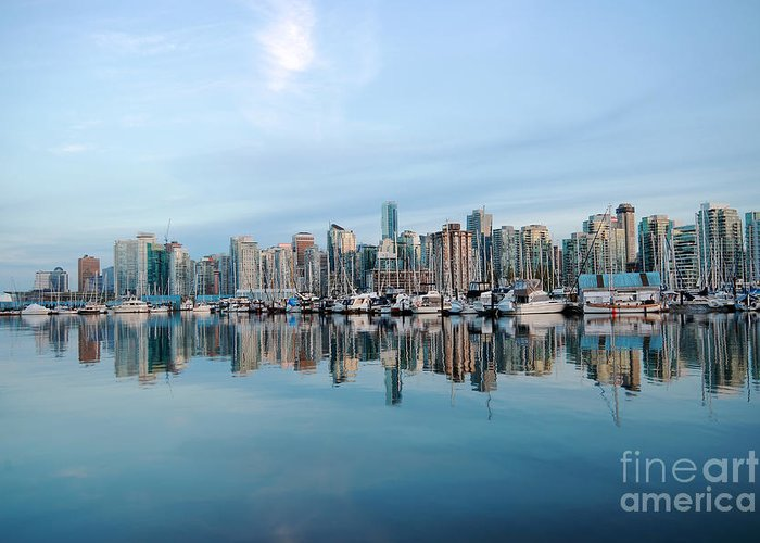 Vancouver Greeting Card featuring the photograph Vancouver Coal Harbour by Charline Xia