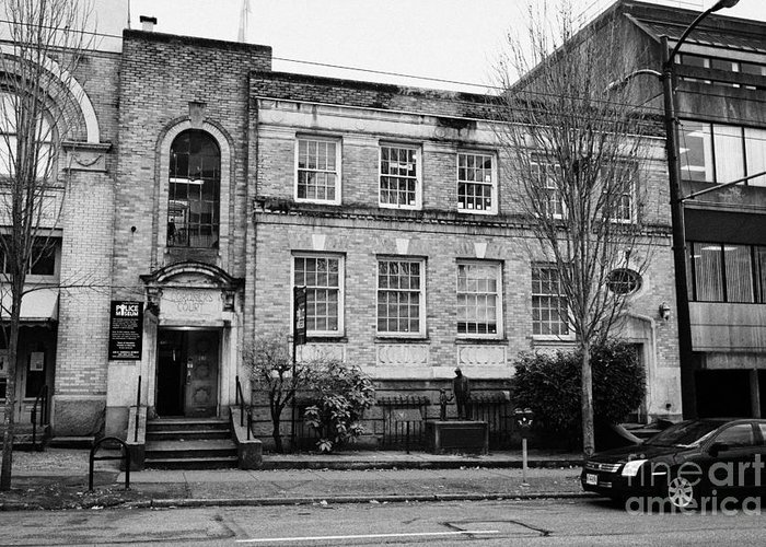 Vancouver Greeting Card featuring the photograph Vancouver Police Museum 240 Cordova Street In The Former Coroners Court Building Bc Canada by Joe Fox