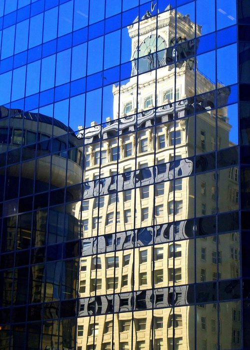 Vancouver Greeting Card featuring the photograph Vancouver Reflections 4 by Randall Weidner