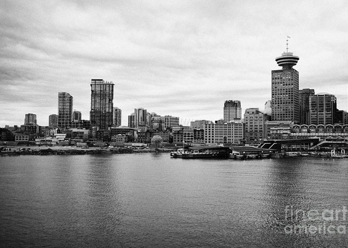 Vancouver Greeting Card featuring the photograph Vancouver Waterfront Skyline At Gastown Bc Canada by Joe Fox