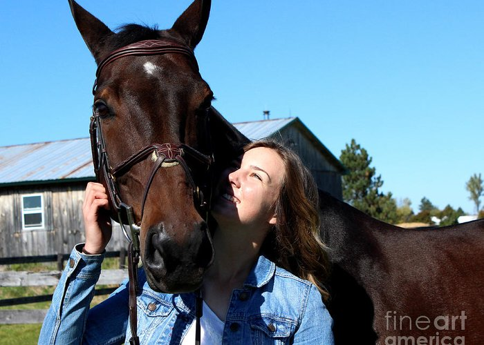Greeting Card featuring the photograph Vanessa Fritz 10 by Life With Horses