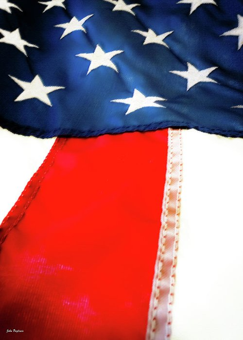 4th Of July Greeting Card featuring the photograph Variations On Old Glory No.1 by John Pagliuca