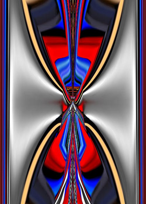 Abstract Greeting Card featuring the digital art Various Colors 9 by Alfred Kazaniwskyj