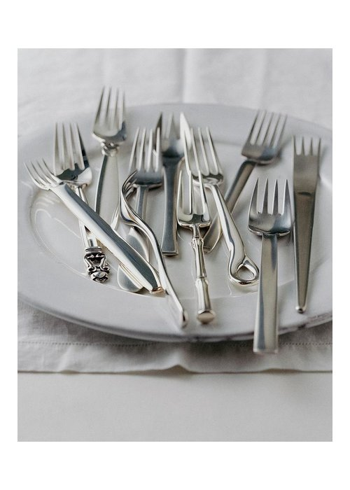 Kitchen Greeting Card featuring the photograph Various Forks On A Plate by Romulo Yanes