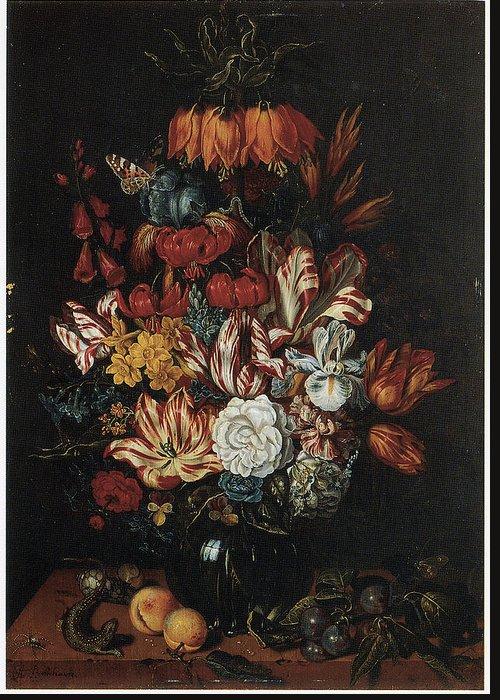 Abraham Bosschaert Greeting Card featuring the painting Vase Of Flowers by Abraham Bosschaert