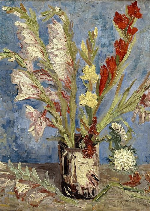 Still-life With Gladiolus Greeting Cards