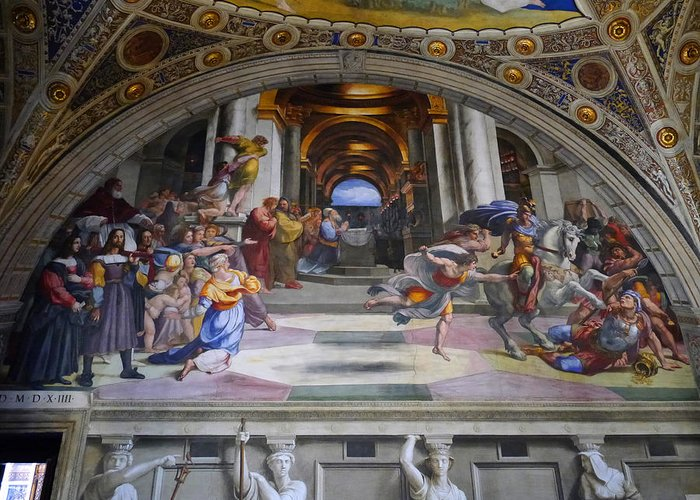 Greeting Card featuring the photograph Vatican Fresco 4 by Herb Paynter