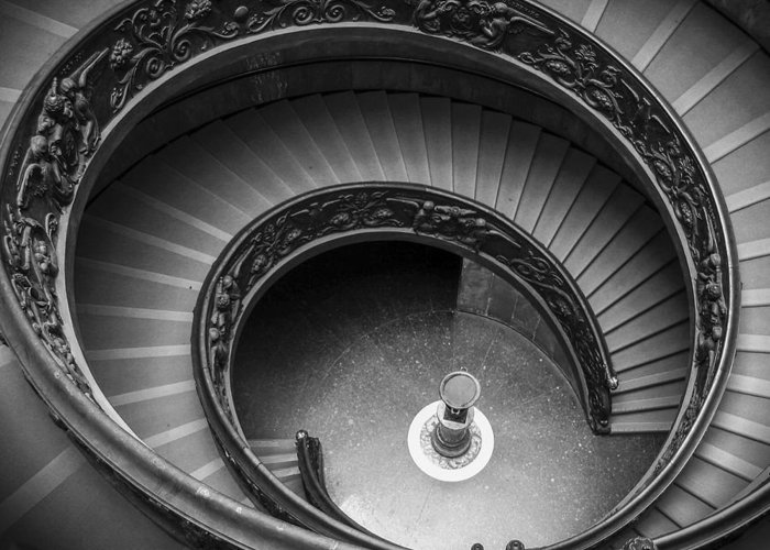 3scape Photos Greeting Card featuring the photograph Vatican Stairs by Adam Romanowicz