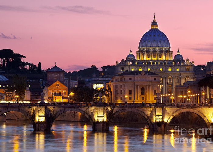 St Greeting Card featuring the photograph Vatican Twilight by Brian Jannsen