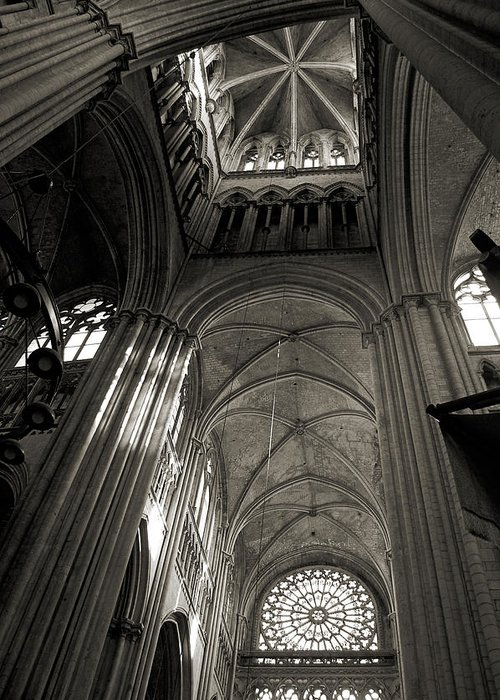 Vaults Greeting Card featuring the photograph Vaults Of Rouen Cathedral by RicardMN Photography