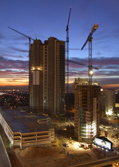 Construction Greeting Card featuring the photograph Vegas Expansion by Mike McGlothlen