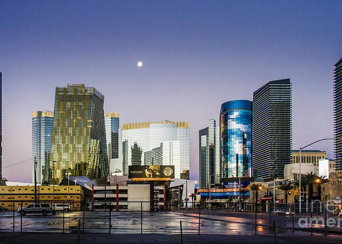 Las Vegas Greeting Card featuring the photograph Vegas Night Skyline by Hugh Walker