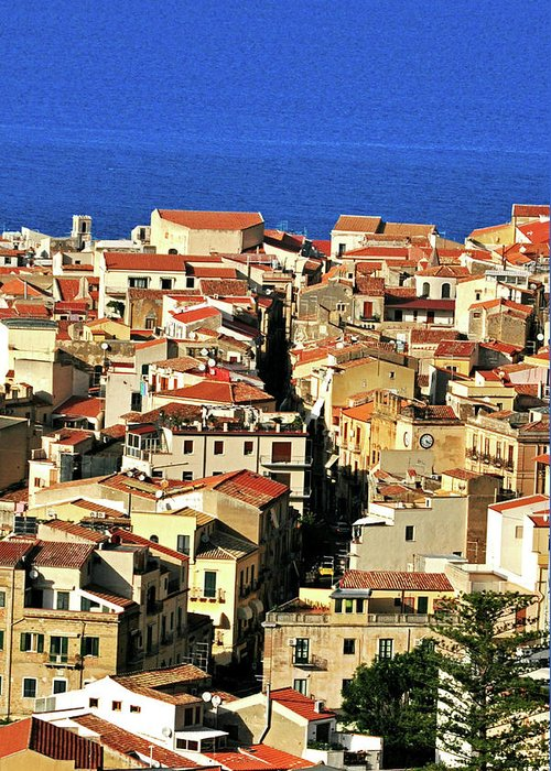 Tyrrhenian Sea Greeting Card featuring the photograph Veins Of Cefalu by Image Brought To You Through The Eye Of Andrew Parker
