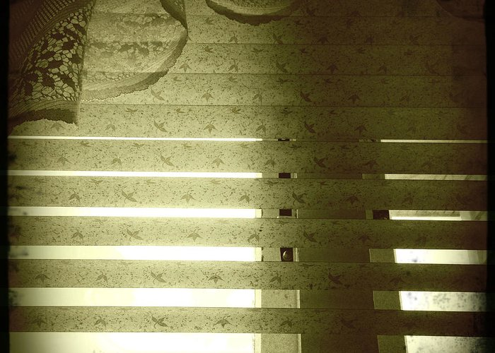 Concept Greeting Card featuring the photograph Venetian Blinds by Les Cunliffe