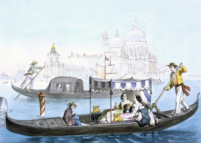 Gondolier Drawings Greeting Cards